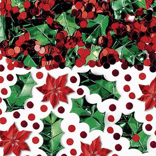 Poinsettia Christmas Confetti Image #1