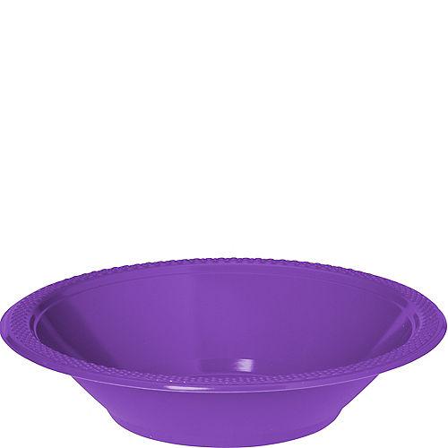 Purple Plastic Bowls 20ct Image #1
