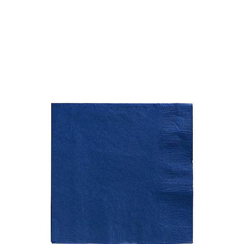 Royal Blue Paper Beverage Napkins, 5in, 40ct Image #1
