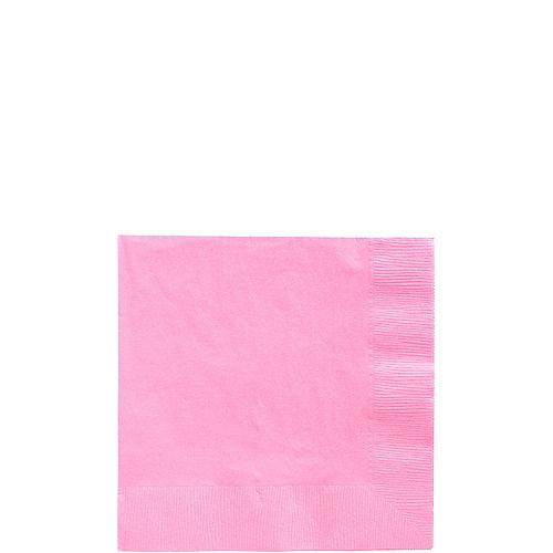 Pink Paper Beverage Napkins, 5in, 40ct Image #1