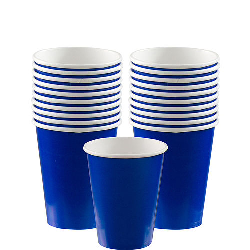 Royal Blue Paper Cups 20ct Image #1