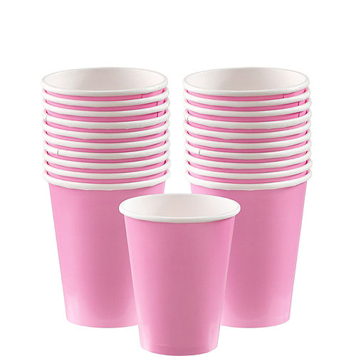 Pink Paper Cups 20ct Image #1