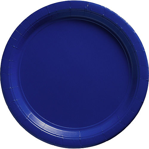 Royal Blue Paper Dinner Plates, 10in, 20ct Image #1