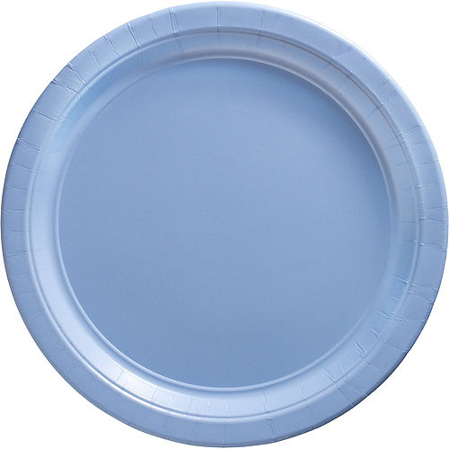 Pastel Blue Paper Dinner Plates 20ct Image #1