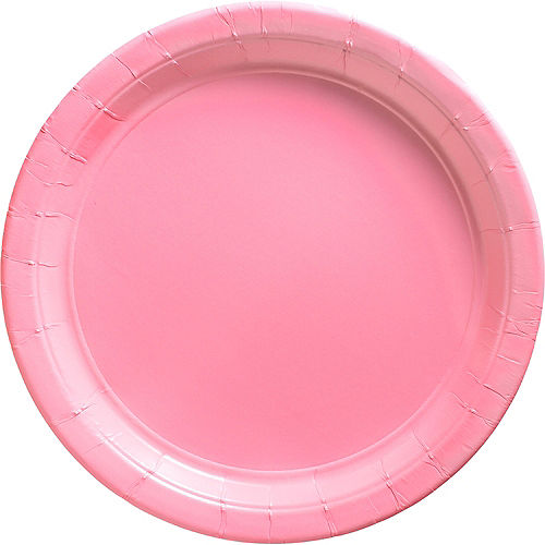 Pink Paper Dinner Plates, 10in, 20ct Image #1