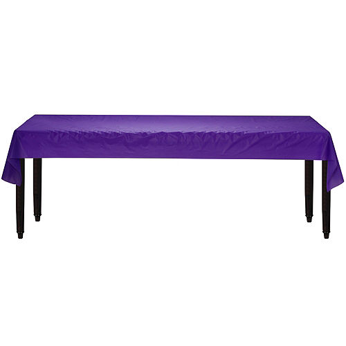 Purple Plastic Table Cover Roll Image #2
