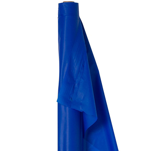Royal Blue Plastic Table Cover Roll Image #1