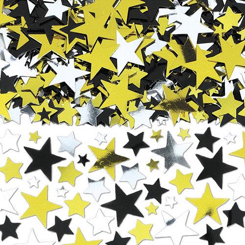 Black, Gold & Silver Star Confetti Image #1
