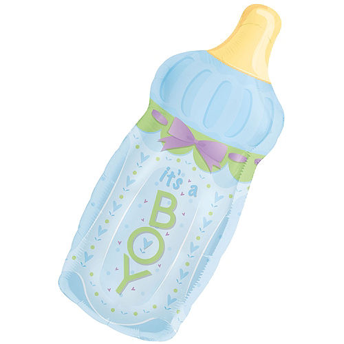 It's a Boy Baby Bottle Baby Shower Balloon Image #1