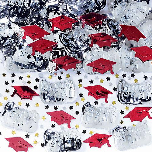 Metallic Red Graduation Confetti Image #1