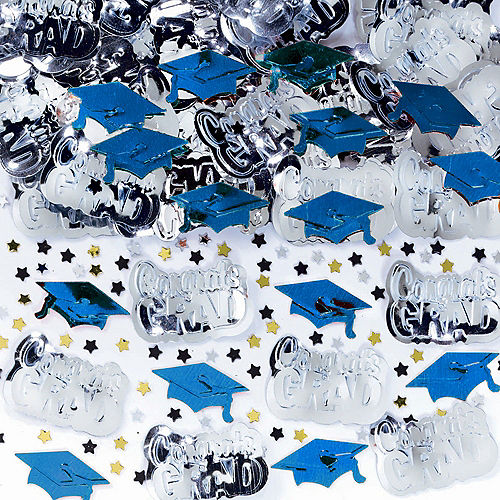 Metallic Royal Blue Graduation Confetti Image #1