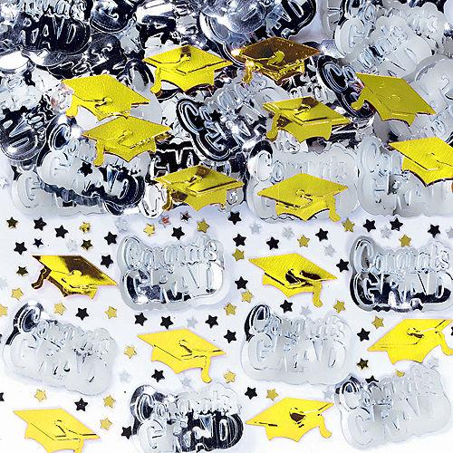 Metallic Yellow Graduation Confetti Image #1