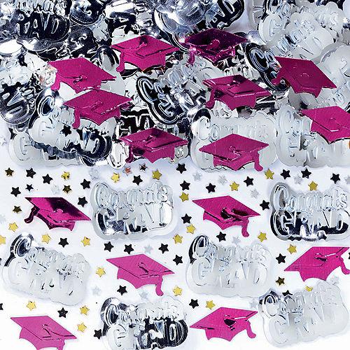 Metallic Berry Graduation Confetti Image #1