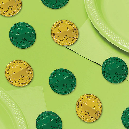 Green & Gold Coin Table Scatter 100ct Image #1