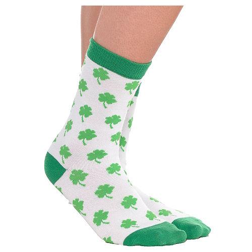 Adult Shamrock Crew Socks Image #1