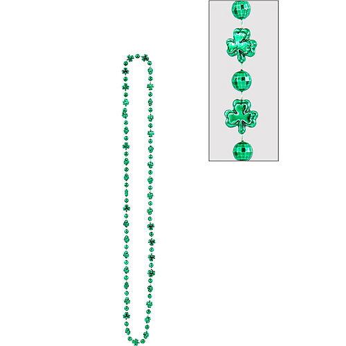 St. Patrick's Day Shamrock Bead Necklace Image #1