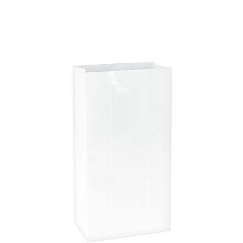 Medium White Paper Treat Bags 12ct Image #1