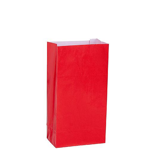 Medium Red Paper Treat Bags 12ct Image #1