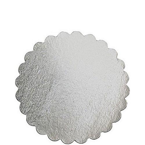 Silver 12in Round Cake Board Image #1