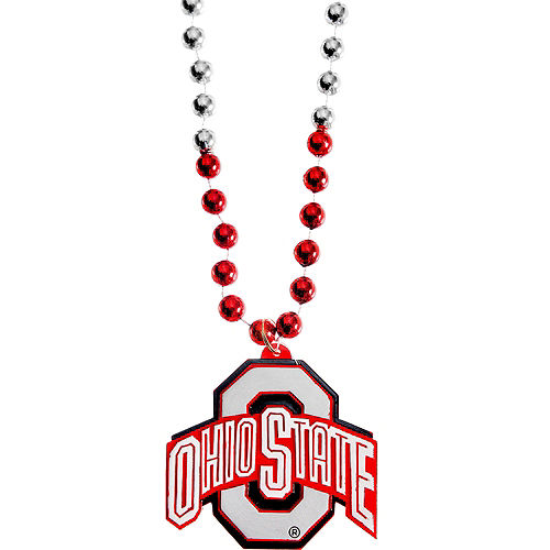 Nav Item for Ohio State Buckeyes Pendant Bead Necklace Image #1