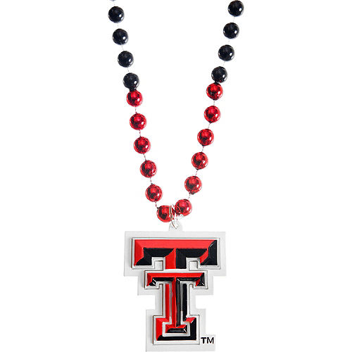 Texas Tech Red Raiders Pendant Bead Necklace Image #1