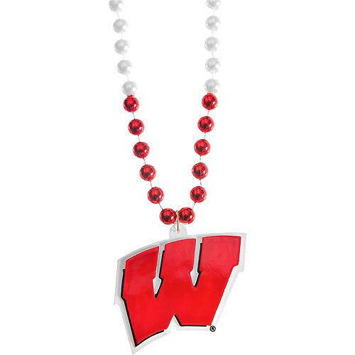 Wisconsin Badgers Pendant Bead Necklace Image #1