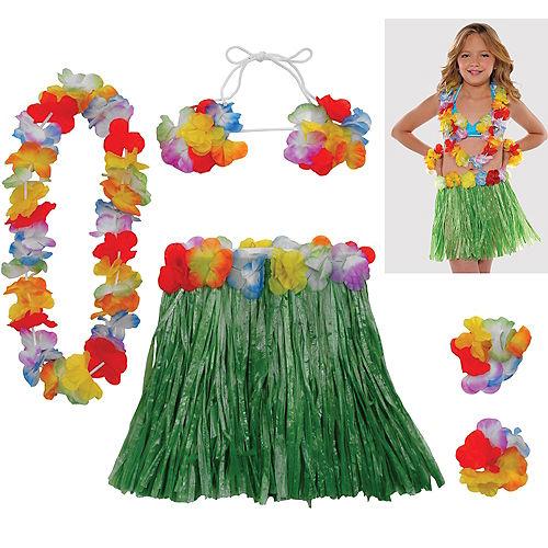Child Hula Skirt Kit 5pc Image #1