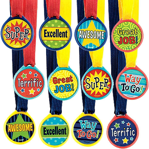 Assorted Award Medals 12ct Image #1