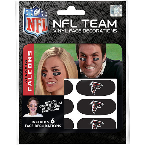 Atlanta Falcons Eye Black Stickers 6ct Image #1