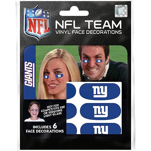 New York Giants Eye Black Stickers 6ct Image #1