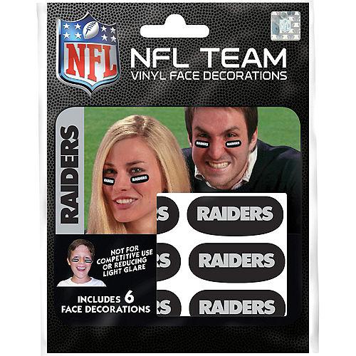 Las Vegas Raiders Eye Black Stickers, 6ct Image #3