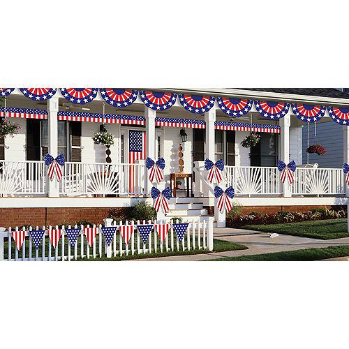 Patriotic American Flag Outdoor Decorating Kit 12pc Image #2