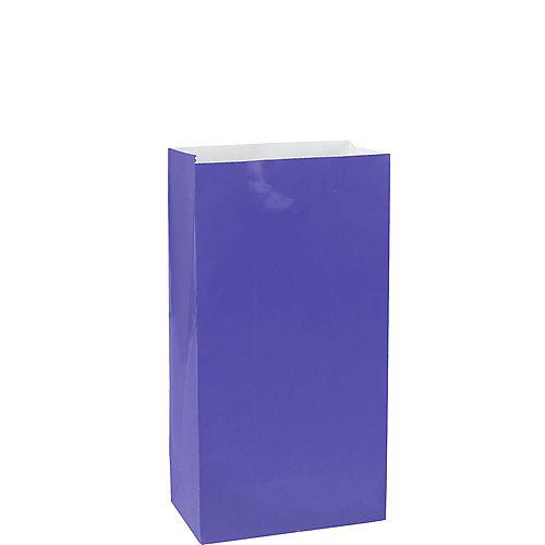Medium Purple Paper Treat Bags 12ct Image #1