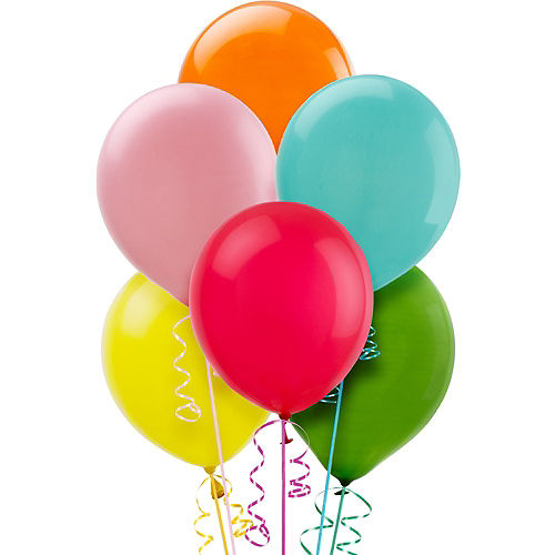 Assorted Color Balloons 72ct, 12in Image #1