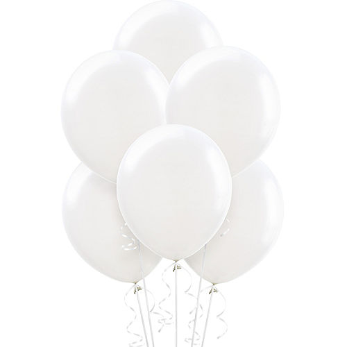 White Balloons 72ct, 12in Image #1