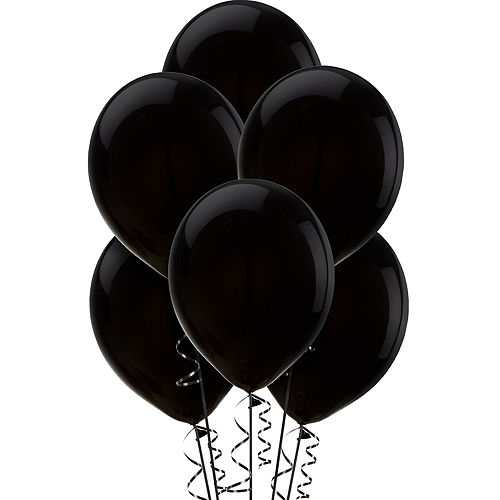 Black Balloons 72ct, 12in Image #1