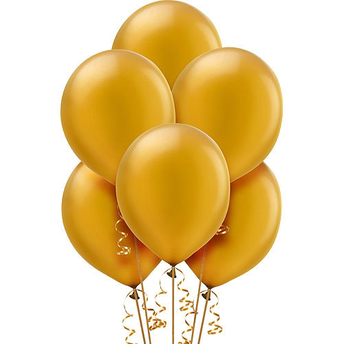 Gold Pearl Balloons 72ct, 12in Image #1
