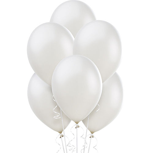 Nav Item for White Pearl Balloons 72ct, 12in Image #1