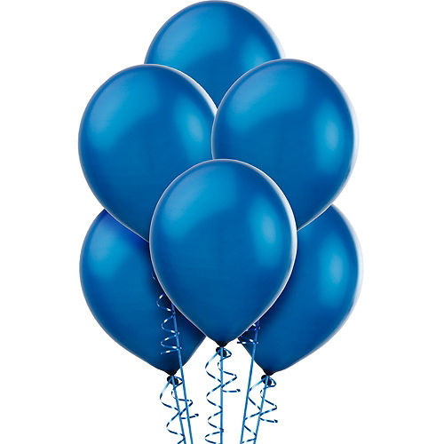 Royal Blue Pearl Balloons 72ct, 12in Image #1