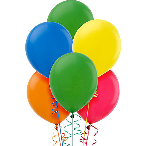 Assorted Color Balloons 15ct, 12in Image #1