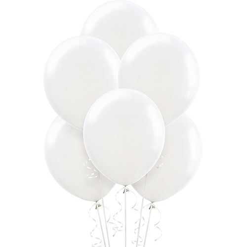 White Balloons 15ct, 12in Image #1