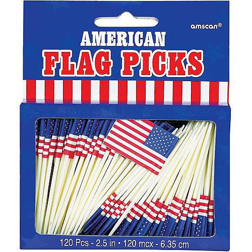 American Flag Picks 120ct Image #3