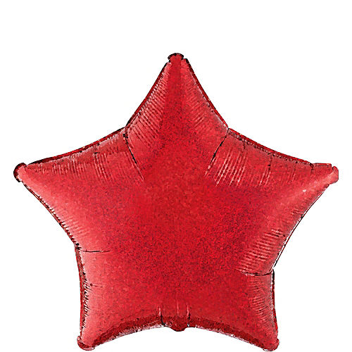 Prismatic Red Star Balloon, 19in Image #1