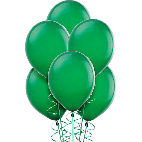 Festive Green Balloons 15ct, 12in Image #1