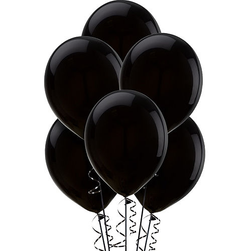 Black Balloons 15ct, 12in Image #1