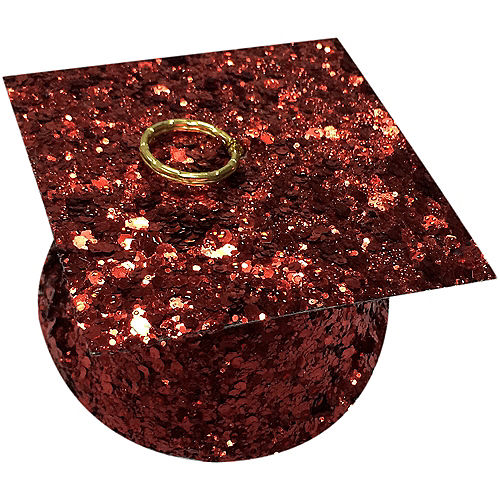 Red Glitter Graduation Balloon Weight Image #1