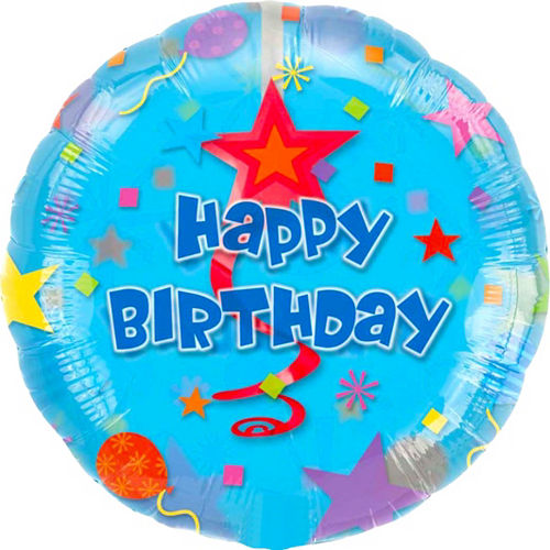 Swirl Happy Birthday Balloon, 32in Image #1