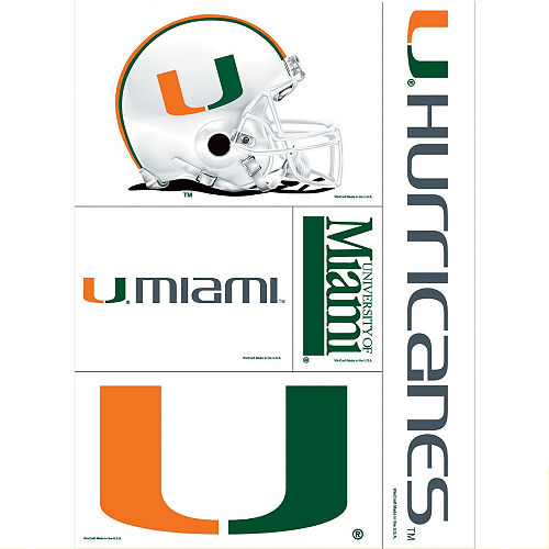 Miami Hurricanes Decal Cling 11in X 17in Image #1