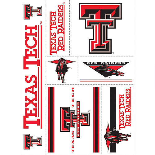 Texas Tech Red Raiders Decals 7ct Image #1