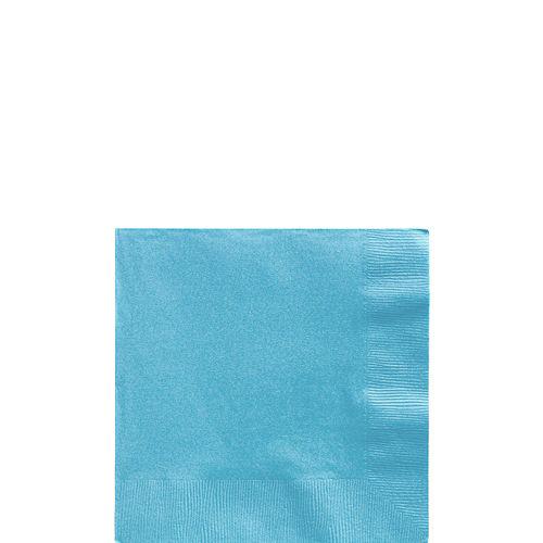 Caribbean Blue Paper Beverage Napkins, 5in, 100ct Image #1